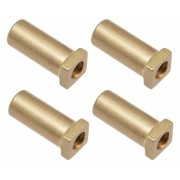 SN-SQ-20RL - Swivel Nut 20mm Square Head - Lacquered Brass (x4)