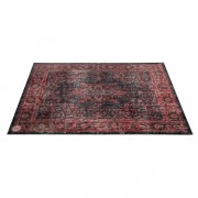 VP185-RBL - Vintage Persian Stage / Drum Mat 1.85 x 1.60m Anti-Slip - Black Red