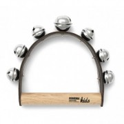 Leather Handle with 6 Bells - Medium Pitch - 1+